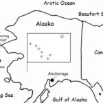 Alaska - printable handout with map and flag