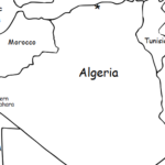 Algeria - Printable handout with simple map and flag