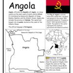 Angola - Printable handout with map and flag