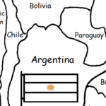 Argentina - printable handout with map and flag