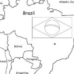 Brazil - Printable handout with map and flag