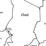 Chad - Printable handout with map and flag