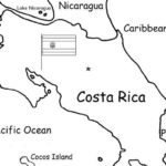 Costa Rica - printable handout with map and flag