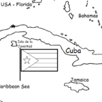 Cuba - Printable handouts with map and flag