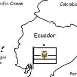 Ecuador - Printable handout with map and flag