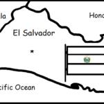 El Salvador - Printable handout with map and flag