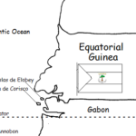 Equatorial Guinea - printable handout with map and flag