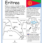 Eritrea - Printable handout with map and flag