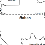 Gabon - Printable handout with map and flag