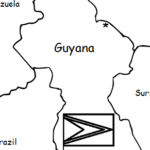 Guyana - Printable handout with map and flag