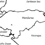 Honduras - Printable handout with map and flag