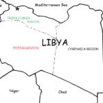 Libya - Printable handout with map and flag