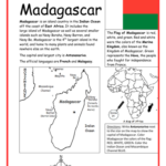 Madagascar - Printable handout with map and flag
