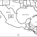 Mexico - Printable map - Fill in the blanks
