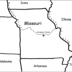 Missouri - Printable handout with map and flag