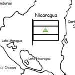Nicaragua - Printable handout with map and flag