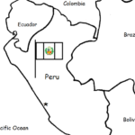 Peru - Printable handout with map and flag