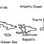 Puerto Rico - Printable handout with map and flag