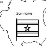 Suriname - Printable handout with map and flag