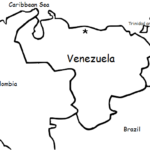 Venezuela - Printable handout with map and flag